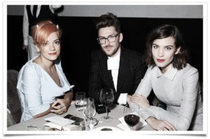 Lily Allen, Henry Holland & Alexa Chung at the British Fashion Awards VIP dinner