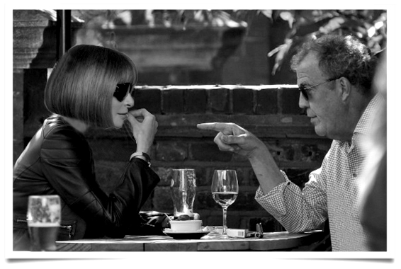 FAMEFLYNET - Jeremy Clarkson Enjoys Lunch With Jodie Kidd In London