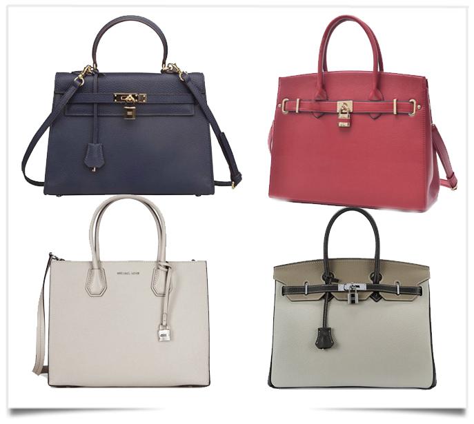 0caa077acc8c You ll need to look really close to see the differences between the Cherish  Kiss Padlock Handbag and the original Hermes Birkin bag.